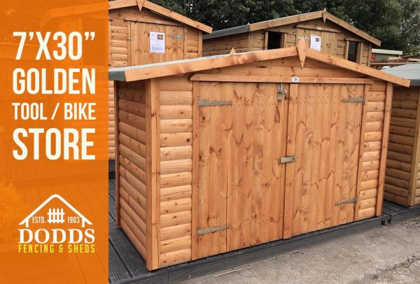 7X30 TOOL STORE DODDS FENCING SHEDS