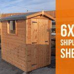 6×4 shipl lap shed Dodds