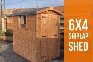 6x4 shipl lap shed Dodds