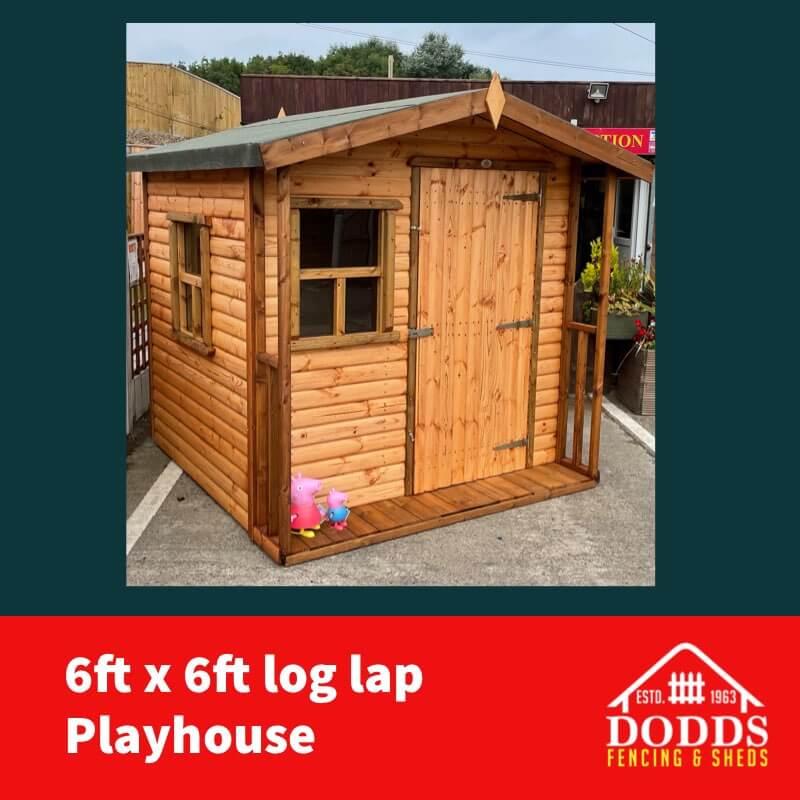 6×6 log lap dodds playhouse (1)