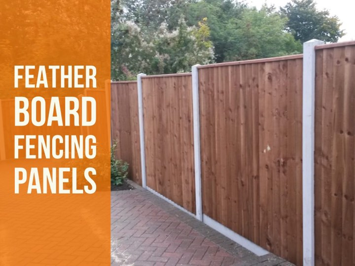 FEATHER BOARD FENCE PANELS