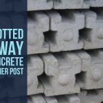 Slotted 3 Way Concrete Posts Stockton on Tees.JPG