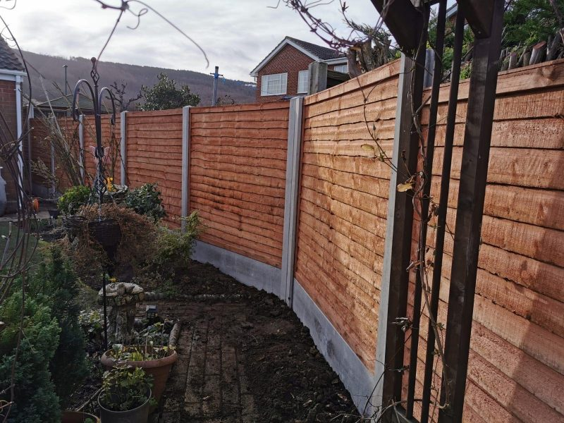 heavy duty lap panels and concrete post dodds fencing and sheds