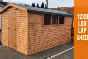 12x8 log lap golden dodds shed