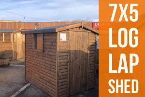 7x5 log lap shed dodds