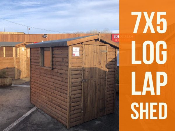 7×5 log lap shed dodds