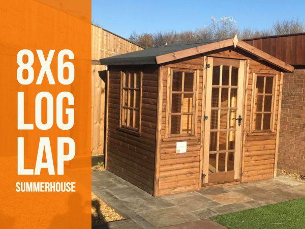 8×6 Log lap Summerhouse