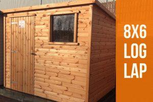 8x6 log lap shed dodds