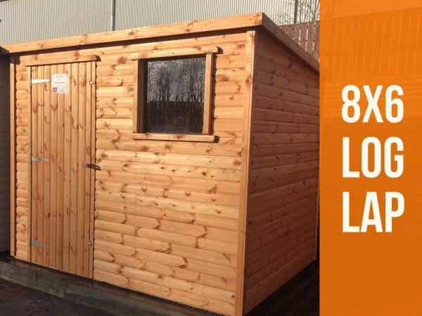 8×6 log lap shed dodds