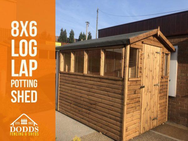 dodds fencing and sheds log lap 8×5 potting shed