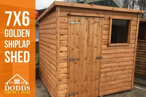 7x6 shiplap garden shed dodds fencing