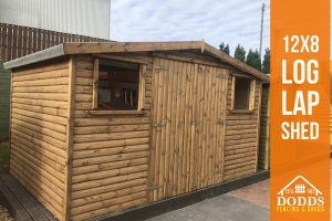 12X8 LOG LAP SHED