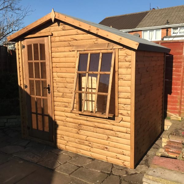 8×6 alpine summerhouse dodds fencing