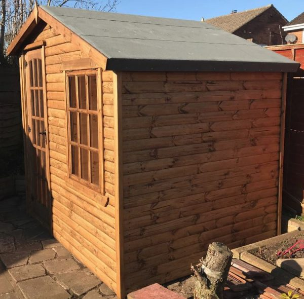 8×6 alpine summerhouse dodds fencing side