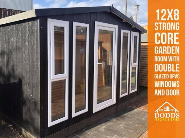 12×8 black dodds garden room strong core