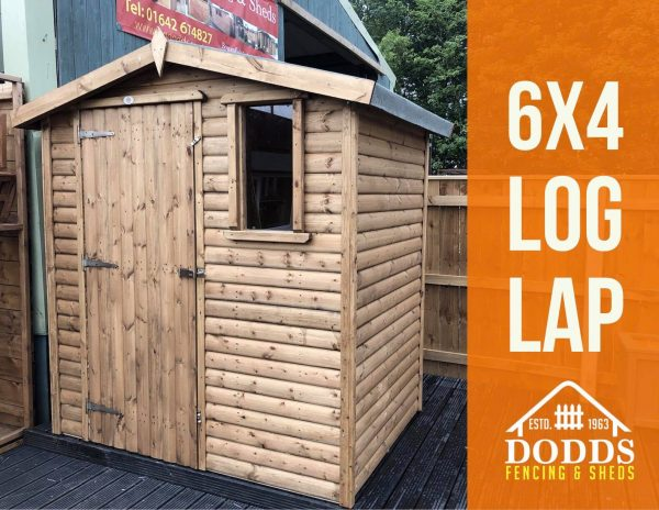 6×4 log lap display shed dodds fencing and sheds