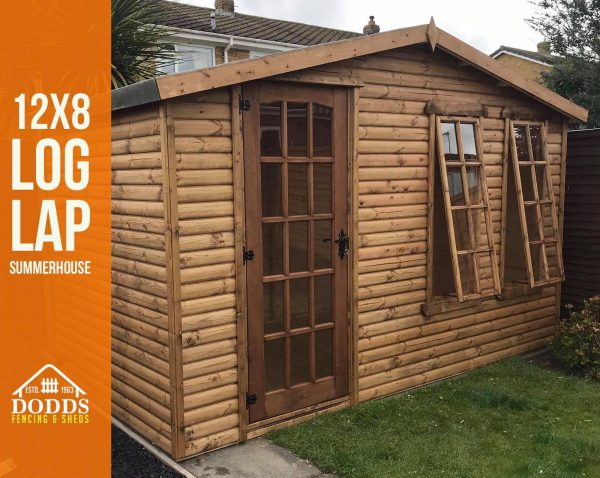 12×8 single door dodds summerhouse b