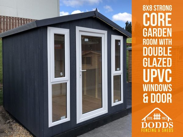 8X8 GARDEN ROOM DODDS FENCING AND SHEDS