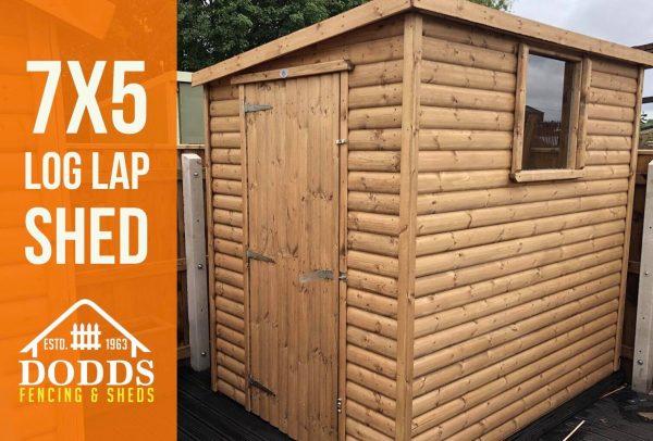 7×5 log lap shed dodds fencing