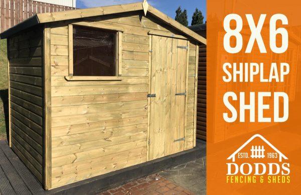 8×6 shiplap dodds fencing sheds