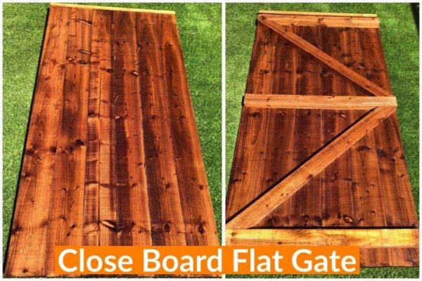 CLOSE BOARD FLAT GATE DODDS FENCING SHEDS
