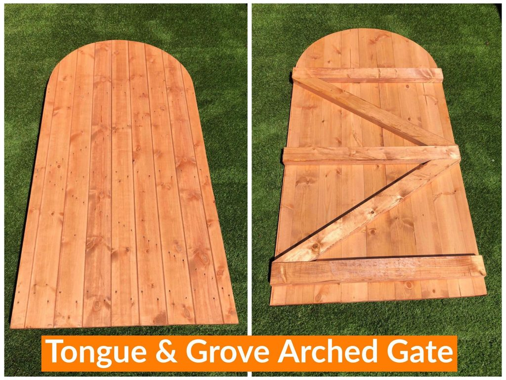 TOUNGUE & GROVE ARCHED GATE DODDS FENCING SHEDS