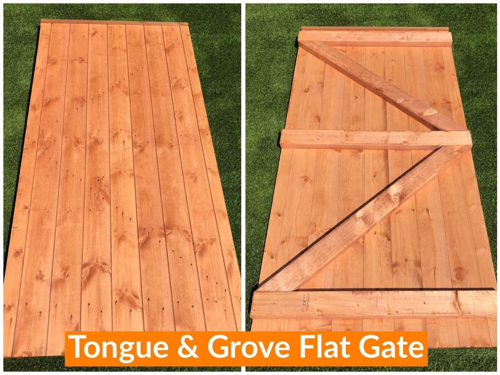 TOUNGUE & GROVE FLAT GATE DODDS FENCING SHEDS