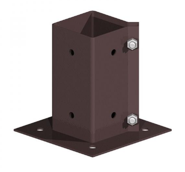4′ bolt down post support with clamp grip