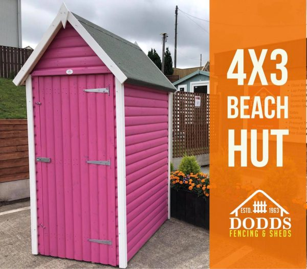 4×3 dodds fencing beach hut