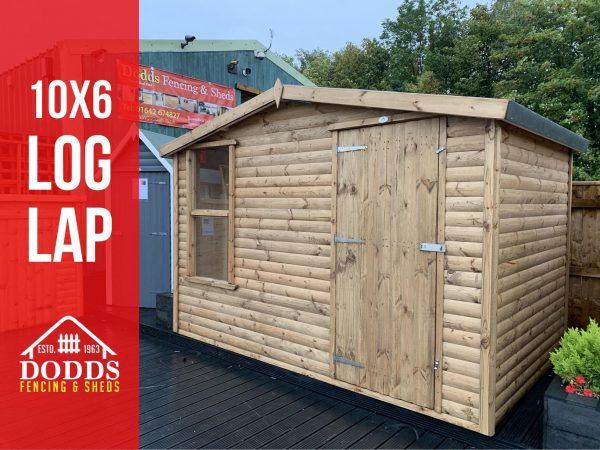 10×6 log lap dodds shed