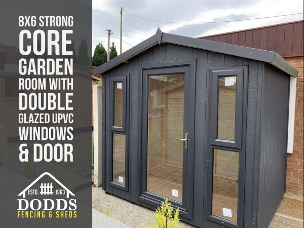 8×6 silverteck strongcore garden room dodds fencing and sheds