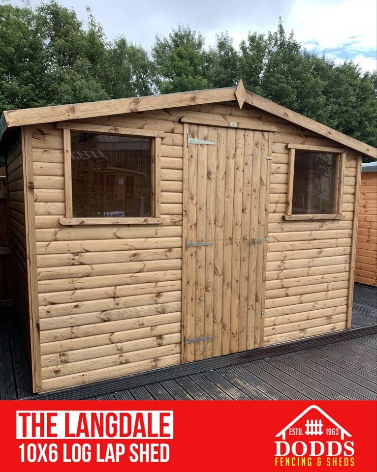 The Langdale10X6 Log Lap Dodds Fencing and Sheds