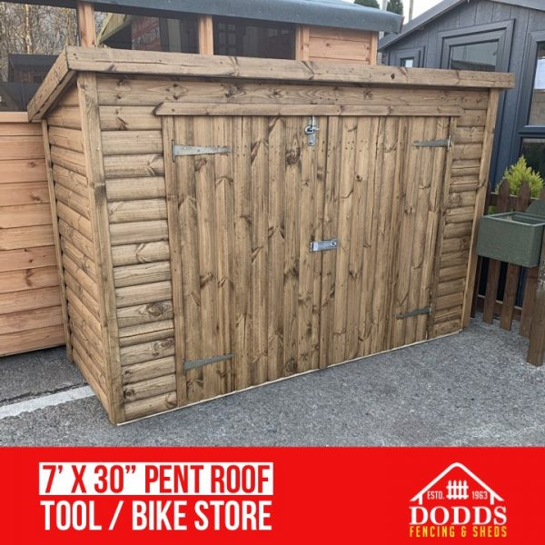 dodds fencing and sheds pent roof tool store