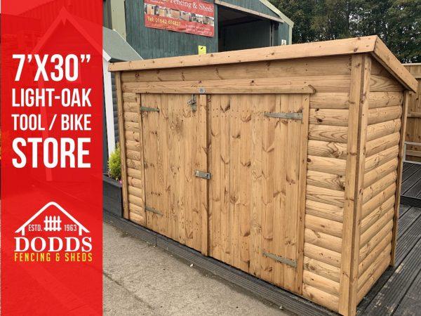 dodds fencing sheds tool store light oak