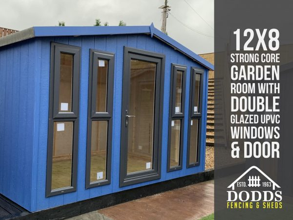 12×8 silvertek strong core garden room dodds fencing and sheds