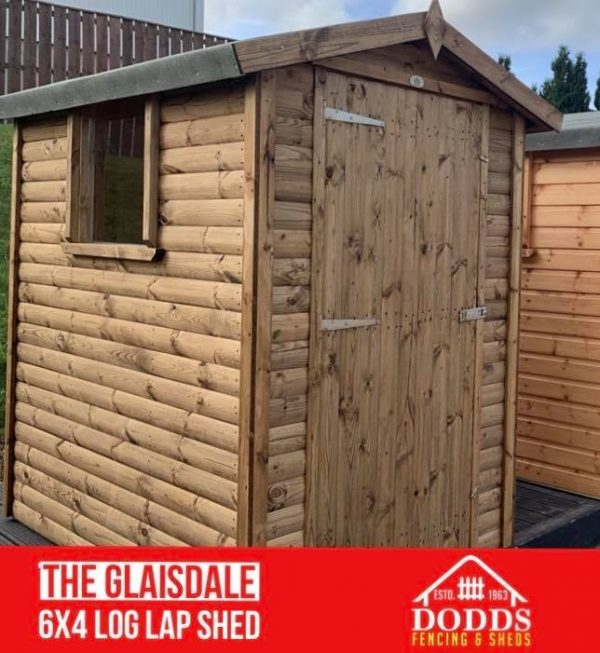 THE GLAISDALE log lap 6×4 DODDS SHED
