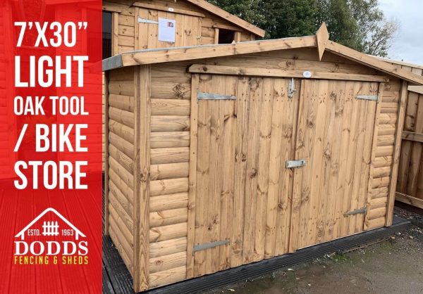 light oak apex tool store dodds fencing and sheds