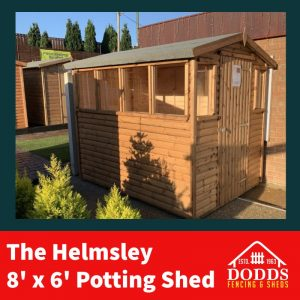 The 8′ x 6′ Log Lap Potted Shed Shed with Slatted Bench will provide you with storage and shelter, and some light and a cosy place for your young plants to nurture and grow. Lockable Hasp & Staple Fitted as Standard 16mm Log Lap Cladding Tongue and groove floor & Roof High Quality Solvent Based Treatment Heavy Duty Polyester roofing felt