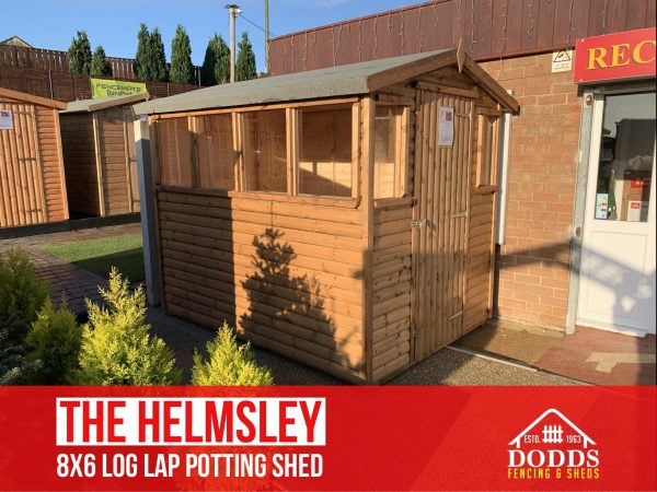the helmsley log lap dodds potting shed