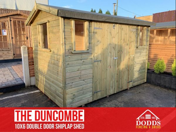 THE DUNCOMBE 10X6 SHIPLAP DODDS SHED