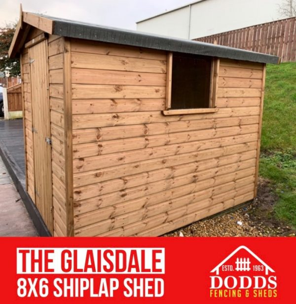 THE GLAISDALE SHIPLAP DODDS SHED