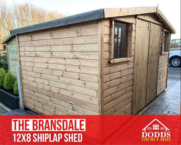 the bransdale 12×8 shiplap dodds shed