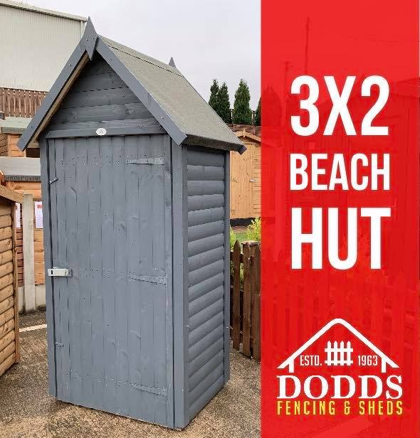 3X2 BEACH HUT DODDS FENCING SHEDS