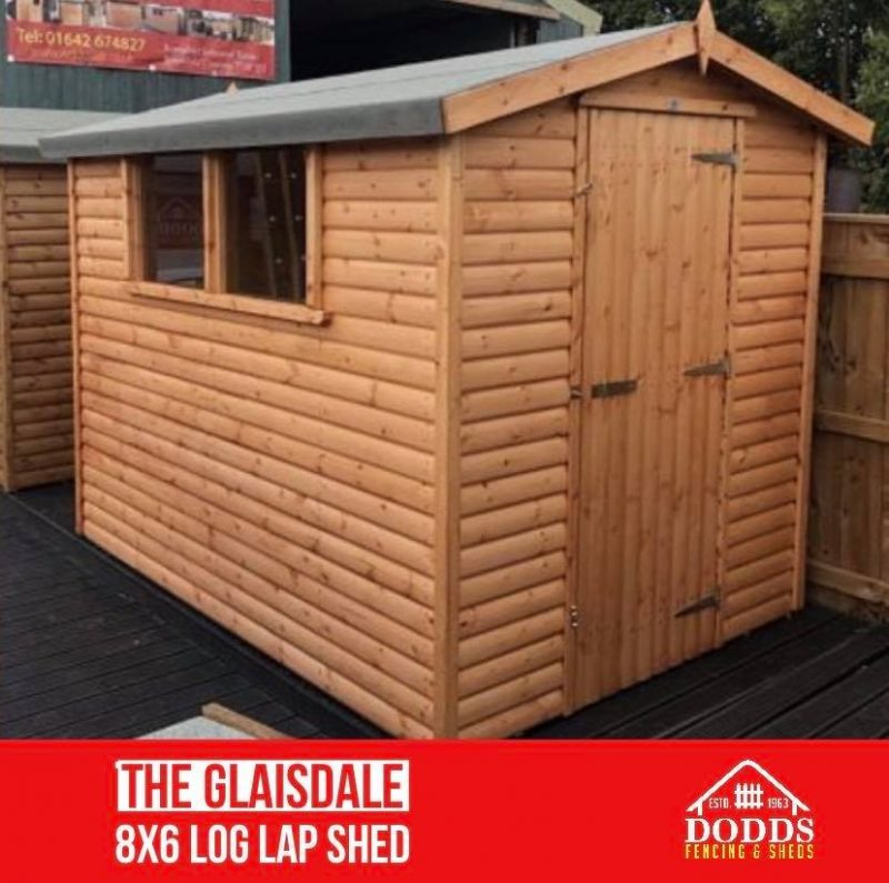 8×6 dodds fencing and sheds glaisdale double window