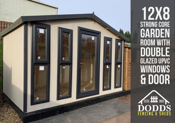 12×8 strong core garden room dodds fencing and sheds