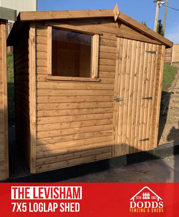 the levisham 7×5 log lap dodds fencing shed