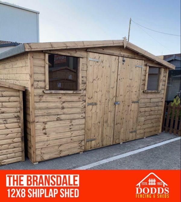 the bransdale 12×8 dodds fencing and sheds