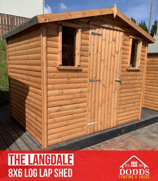 8×6 langdale dodds fencing sheds