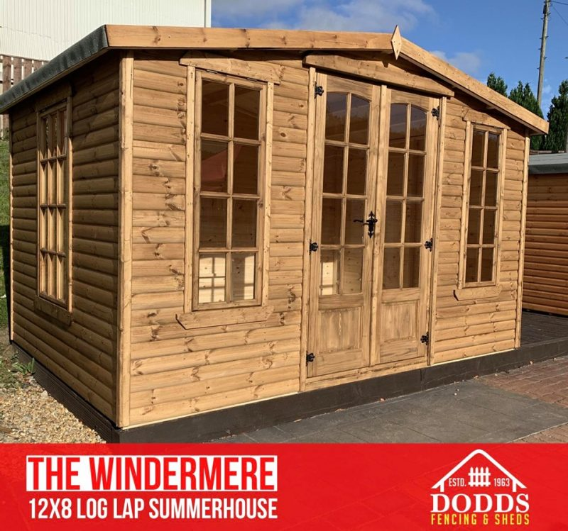 The Windermere 12×8 summerhouse Dodds Fencing and Sheds