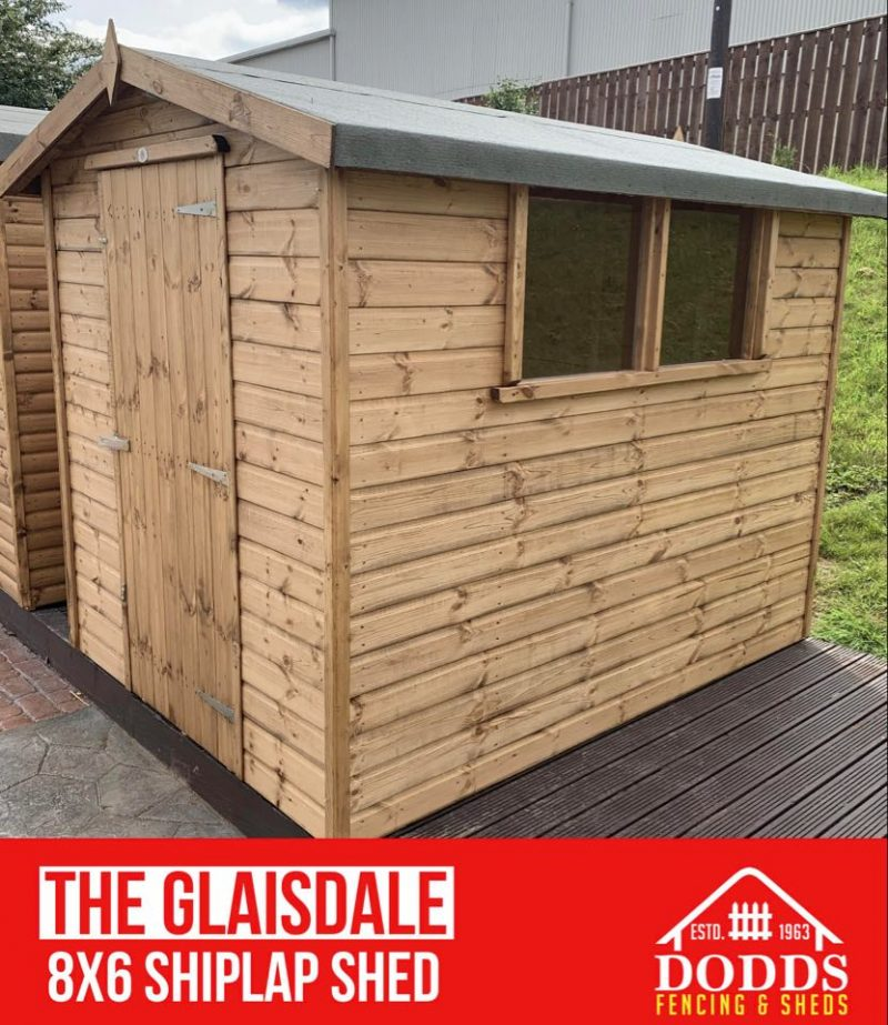 The Glaisdale 8×6 Shiplap Dodds Fencing and Sheds